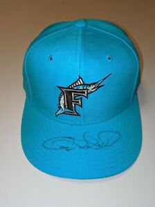 GARY SHEFFIELD FLORIDA MARLINS Signed Auto New Era Fitted Hat Cap 7 Yankees COA