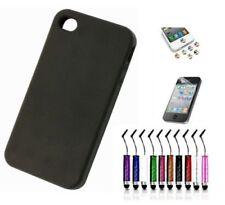 Carcasas de color principal negro de silicona/goma para teléfonos móviles y PDAs
