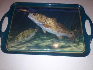 Large melamine Fish style serving trays 4 pc