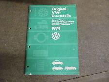 Volswagen 1974 car bug parts manual