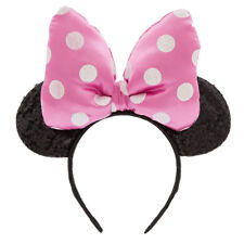 Disney Store Minnie Mouse Big Pink Ears Headband Bow Tie Girls Dress Up Costume