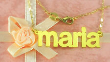 PERSONALIZED GOLD PLATED  ANY NAME PLATE NECKLACE  (BLOCK LOWER CASE) US SELLER