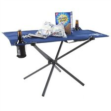 Camping Table Folding Portable 2 Cup Holders Carry Bag Picnics Beach Outdoor