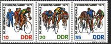 DDR WZd346 (2216-2218 dan Drie strips) postfris 1977 Peace Race