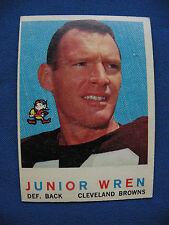 1959 Topps #169 Junior Wren Browns card $1 S&H NFL football