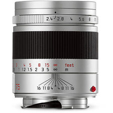 New Leica Summarit-M Mount 75mm F/2.4 Lens Silver #11683