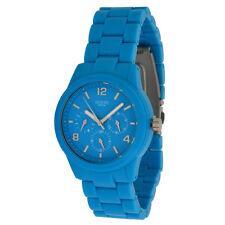 Guess Damen Quarzuhr Model hellblau W11603L5 wasserdicht 5ATM Kunststoff-Armband