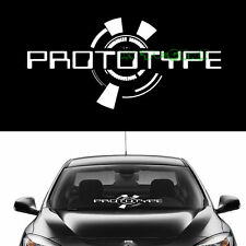 (1) PROTOTYPE Windshield Front Glass Body Car SUV Mugen JDM Vinyl Decal Sticker