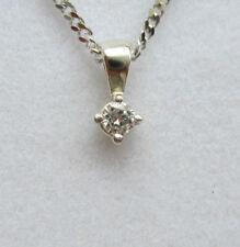 Collares y colgantes de joyería colgante de oro blanco de 9 quilates
