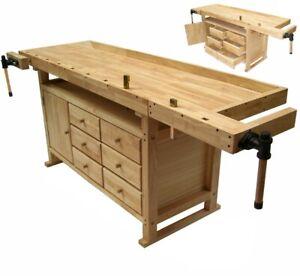 Hobelbank Werkbank Holzwerkbank Hobeltisch Massivholz Hobel Werktisch Holz Tisch