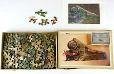 RARE Antique 1928 Wooden Jigsaw Puzzle GWR 4073 Railway/Train Caerphilly Castle