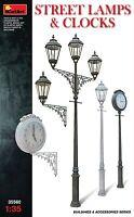 MINIART 1:35 DIORAMA LAMPIONI E OROLOGI STREET LAMPS AND CLOCKS  ART 35560