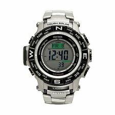 Casio Mens Protrek PRW3500T-7 Compass Titanium Band Solar Atomic Watch USED