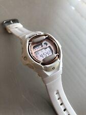 Casio White Rose Gold G-Shock ladies watch. Baby G watch BG-1696G