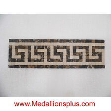 "Greek II, Mosaic 4 1/8"" x13 1/2"" Granite Marble Tile  Bathroom Borders Kitchen"