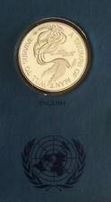"""1972 United Nations, """"Triumph of mans will to survive """"Silver Proof, set of five"""
