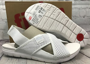 FitFlop Women's Airmesh Sandal Urban White Polyester Shoes Size 9 New With Box