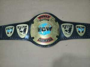 ECW World Television Championship Belt Leather Thick 2MM Plated Adults Replica