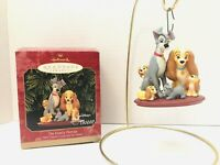 1999 Hallmark Disney Lady And the Tramp THE  FAMILY PORTRAIT Ornament In Box