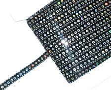 Cinta de terciopelo negro de calidad superior & Lentejuelas Trim, 10MM de ancho, X2 MTRS, ARTE 3203