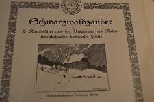 Schwarzwaldzauber, 3 Drucke, P. Goetze, 1921, Lettwieser Hütte, Schwarzwald