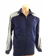NORDIC TRACK MENS NAVY & GRAY POLYESTER TRACK JACKET SIZE S NICE