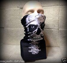 """Tour da collo Passamontagna copertura naso faccia maschera """" Viso Testa da Morte"""