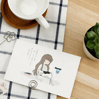 Lovely Paper Cat And Me Greeting Postcards Business Card Message Gift Jian
