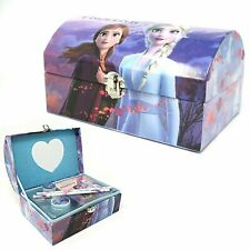 Disney Frozen 2 Anna & Elsa Stationery & Jewellery Box Mirror Pencil Case Chest
