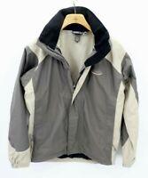 VINTAGE Patagonia Mens Brown Full Zip Hooded Windbreaker Soft Shell Jacket XS