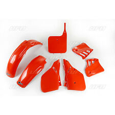 Honda CR125 1987 Plastic Kit Mudguard Side Panels Front Rear Rad shrouds UFO NEW