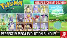 Pokemon Let's GO All 15 Shiny Mega Evolutions - Perfect IV & AV