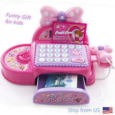 Pretend Play Cash Register-Educational Calculator,Realistic Actions Sounds Kid's