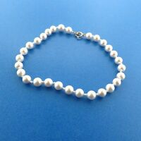 14 k Gold Cultured Pearl Bracelet 6 mm 7.75 Inch