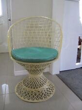 Peacock Style Outdoor/Indoor Metal painted Cane look Chair