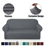 Granbest Thick Loveseat Sofa Covers For 2 Cushion Couch, Light Grey
