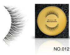 012 Best 3D 1Pair 100%Handmade Natural Thick Mink Hair False EyeLashes reusable