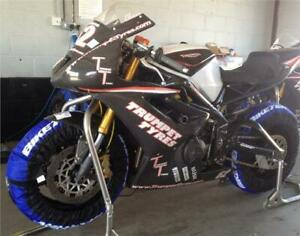 BikeTek Tyre Warmers Set 120 & 200 Rear Motorcycle Race & Track 2 Pin Euro Plug