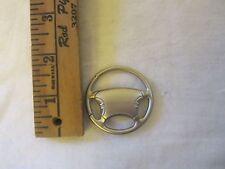 Honda Stering Wheel Shaped Round Silver Metal Key Chain Ring
