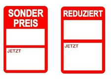 German - Red - SALE - Now / REDUCED - now - Stickers, Sticky Labels, Tags