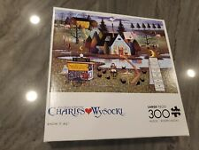 Charles Wysocki Know it All 300 Large Piece Puzzle Brand New Buffalo Games
