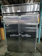 """Continental Dl2F 52"""" Solid 2 Door Reach-In Freezer Commercial Stainless Steel"""