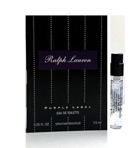 Purple Label Ralph Lauren 0.05 oz / 1.5 ml Eau De Toilette Mini Vial Spray