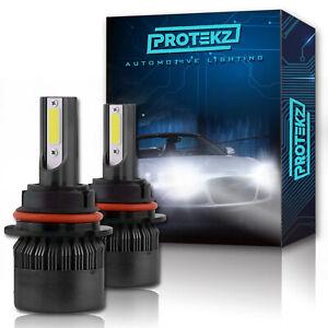 LED Headlight Protekz Kit H7 6000K Fog Light for 2005-2008 Audi A6 A8 Quattro