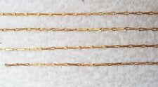 VINTAGE GORGEOUS SOLID BRASS BARLEY CORN JEWELRY CHAIN 9 FEET