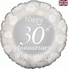 """18"""" Foil Balloon """"Felice 30th ANNIVERSARIO"""" Celebrazione"""