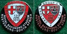 England v USA 2010 World Cup Bafokeng Stadium Rustenburg 12 June 2010 Pin Badge