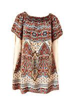 Kachel-Moroccan Print-Silk-A-Line Dress-Size 10