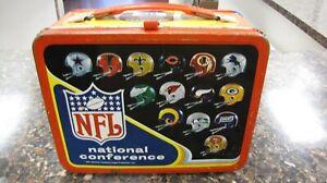 Vintage 1976 NFL National Football League Metal Lunchbox