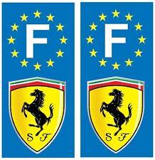 2 Stickers autocollant plaque d'immatriculation Ferrari plaque  Ferrari Art déco